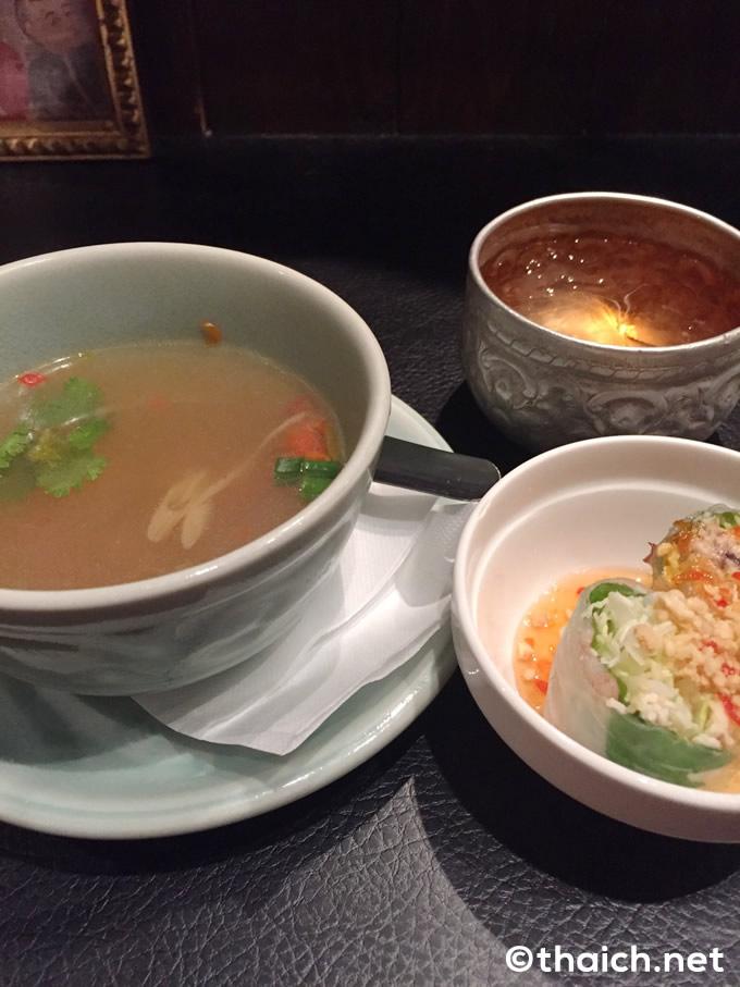 嬉しいスープと生春巻き付き