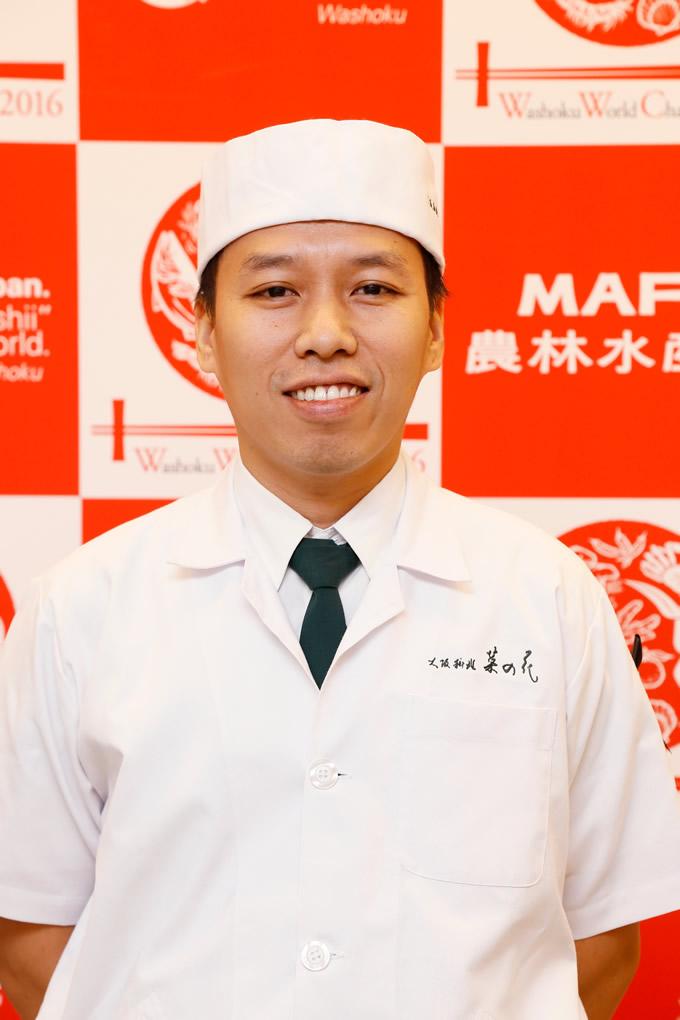 「大阪料理 菜の花」のソンクラーン・コムニュー氏が銅賞に輝く!「和食ワールドチャレン ジ2016」
