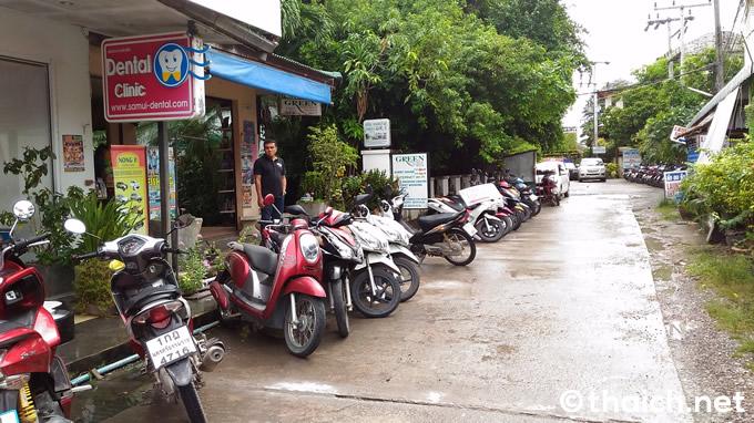 サムイ島ではレンタルバイクが絶対便利!価格は1日200バーツ!