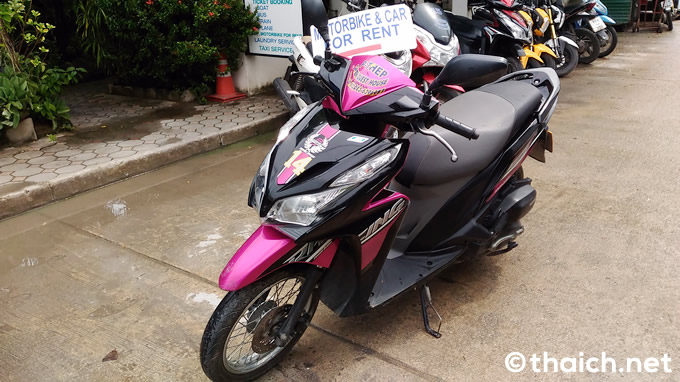 レンタルバイクの注意点、バイクに傷は?国際運転免許証は持ってますか?