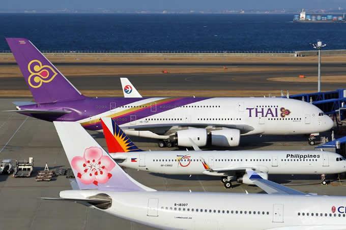 セントレア、タイ国際航空エアバスA380の誘導の様子を公開