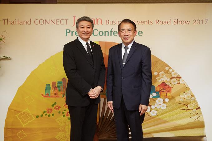 駐日タイ王国特命全権大使とタイ・コンベンション&エキシビション・ビューロー代表