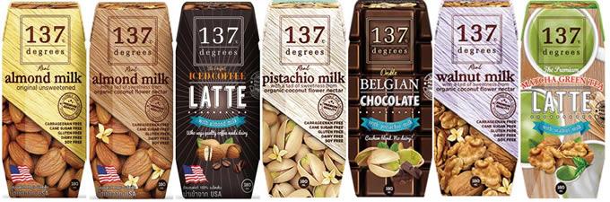 タイの無添加本格派ナッツミルクブランド「137℃」が売れ行き好調