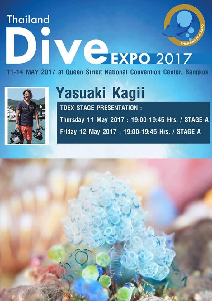日本人水中写真家 のトークショーも、「タイランドダイブエキスポ2017」開催