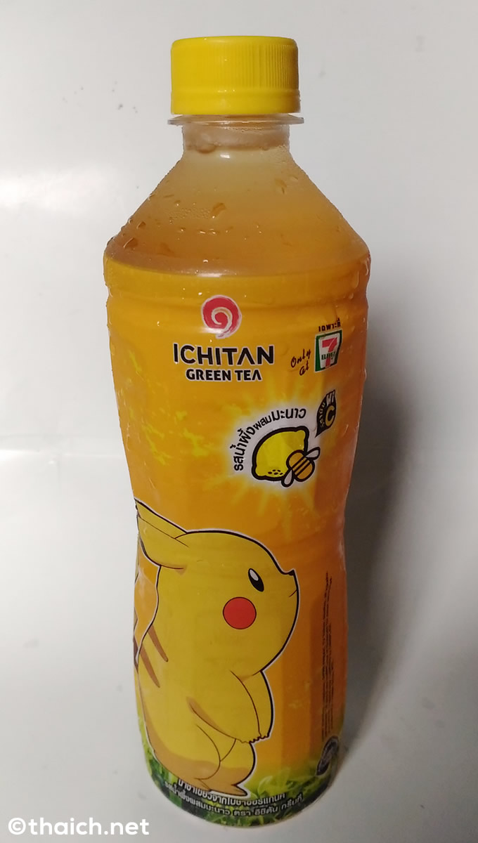 タイのセブンイレブン限定、ICHITANのポケモン蜂蜜レモン緑茶
