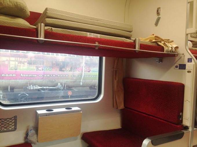 バンコク発チェンマイ行きの寝台列車