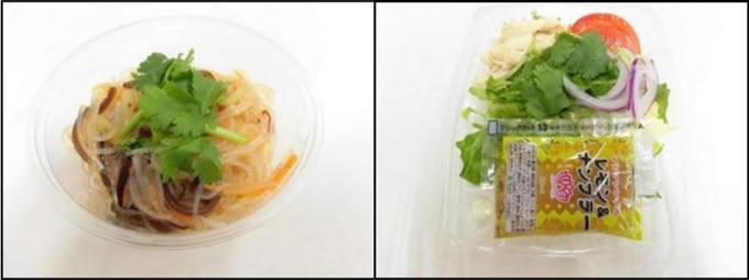 ナンプラードレッシンッグのパクチーサラダとタイ風春雨サラダが東海地方のミニストップで発売