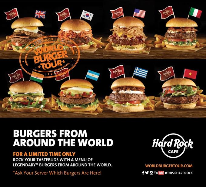 ハードロックカフェ・パタヤで世界のハンバーガーツアー