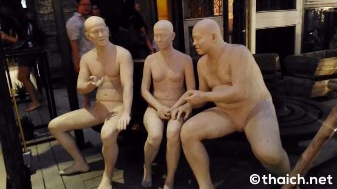 チャーンチュイ(ช่างชุ่ย ChangChui)の裸人間オブジェ