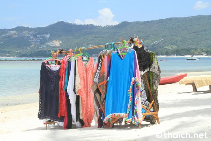 チャウエンビーチの服売り