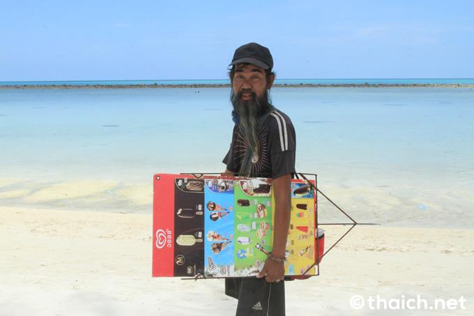 チャウエンビーチのアイスクリーム売り