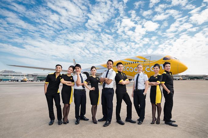 スクート、客室乗務員のユニフォームが一新、ハワイへも就航開始