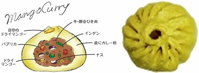 ■〈神楽坂五十番〉マンゴーカレーまん400円