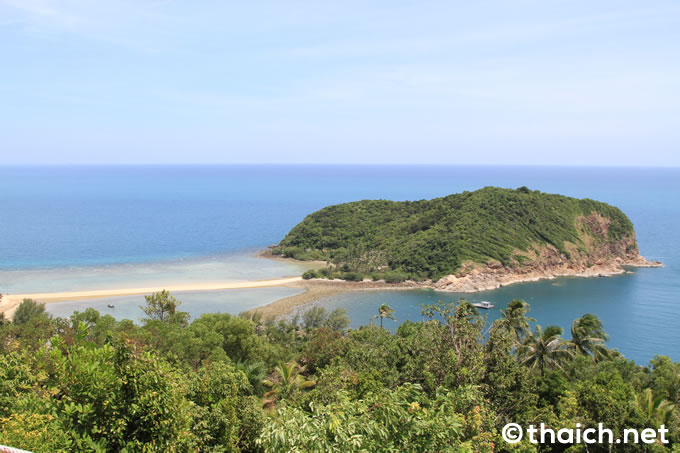 パンガン島とマ島とが陸続きになる時