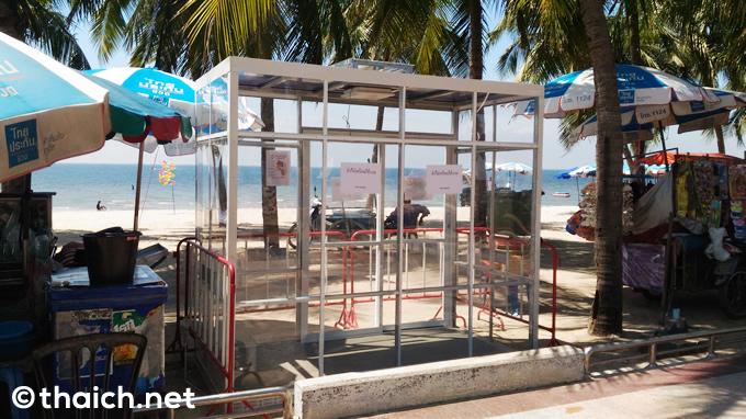 喫煙所はガラス張り!タイのビーチ禁煙化で設置開始