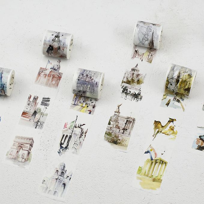 タイもあり!世界の国々のシンボルや風景が描かれた「旅するマスキングテープ」が発売開始