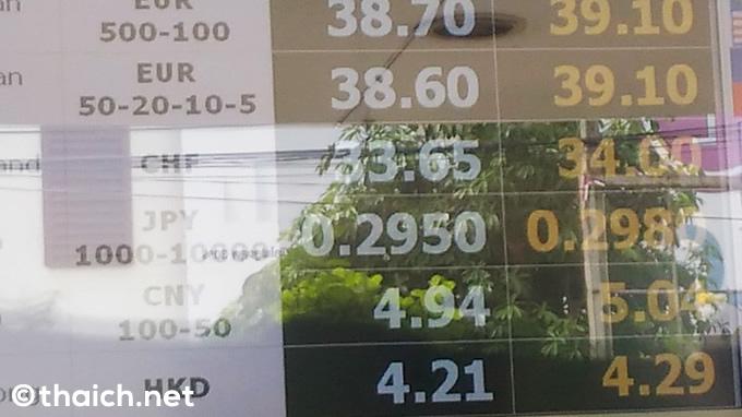 シーラチャの高レートの両替商「シーラチャ・マネー・エクスチェンジ」