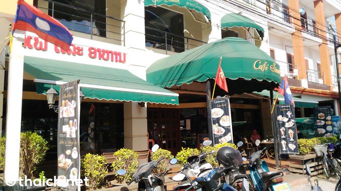 【ラオス】「カフェ・シヌーク」はラオスコーヒーのカフェ&レストラン