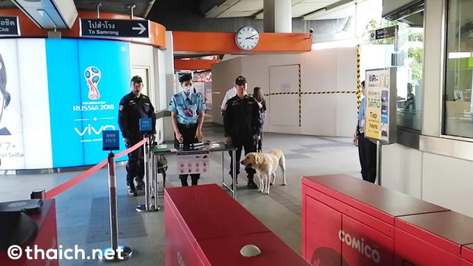 バンコク・BTSモーチット駅にいたのは麻薬犬?
