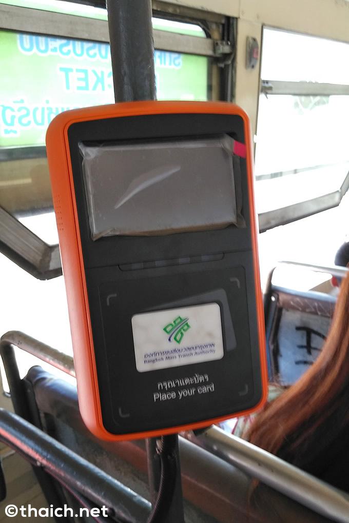 バスの電子カード読取機