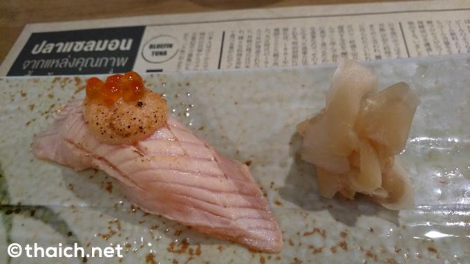 炙りサーモン・明太寿司