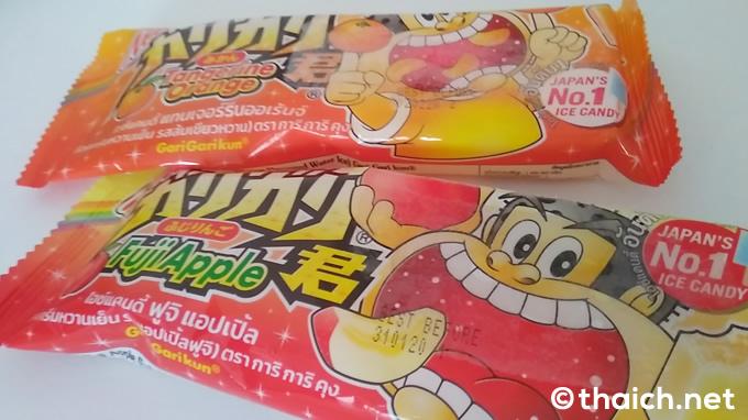 タイのガリガリ君に「ふじりんご」と「みかん」が新登場