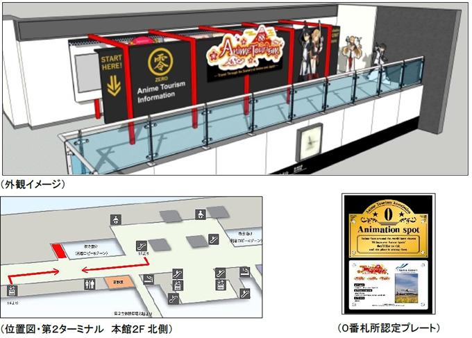 海外のアニメファンに朗報!成田空港に「アニメ・ツーリズム・インフォメーション」がオープン