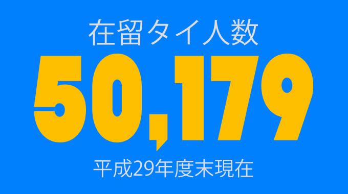 在留タイ人数は5万179人!平成29年度末現在で