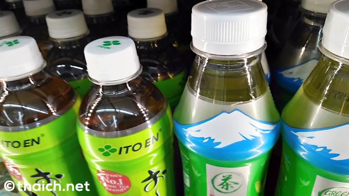 白いキャップは無糖の印!タイのお茶ペットボトル