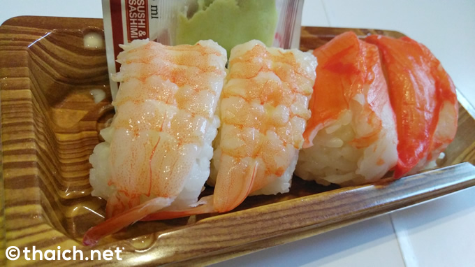 タイのセブンイレブンの握り寿司