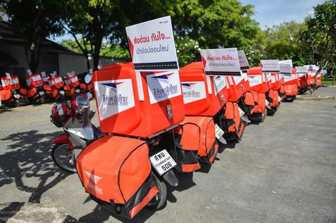 タイ郵便局、配達用新バイクを100台公開