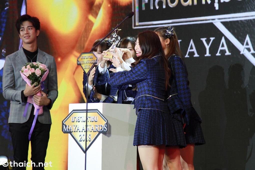 BNK48がトップアーティスト賞獲得[MAYA AWARDS 2018]
