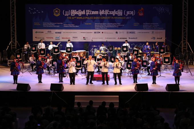 シンガポール警察音楽隊コンサート(ミャンマー2017)