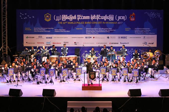 ミャンマー警察音楽隊コンサート(ミャンマー2017)