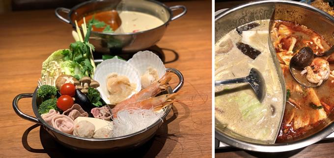 トムヤムとグリーンカレーの火鍋風「食べ比べエスニック鍋」、赤坂のタイ料理店ギンカーオで提供開始