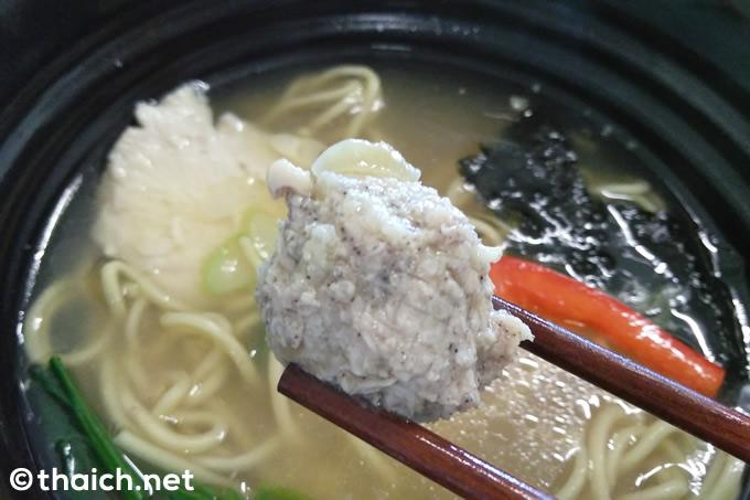 BTSバンナー駅前「横濱らぁ麺 NICOL」の「鶏塩SOBA」(160バーツ)
