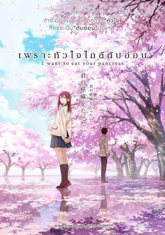 劇場アニメ「君の膵臓をたべたい」がタイで2018年12月20日公開