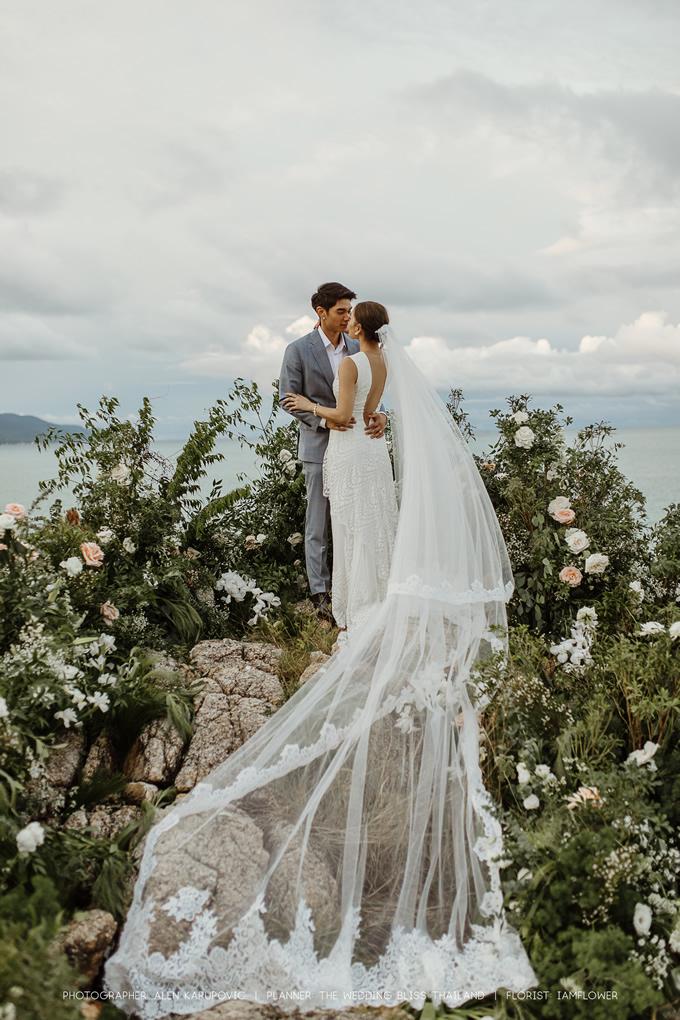 女優ジェニー・ティアンポースワンがサムイ島のホテル「ケープファーンホテル」で結婚披露宴