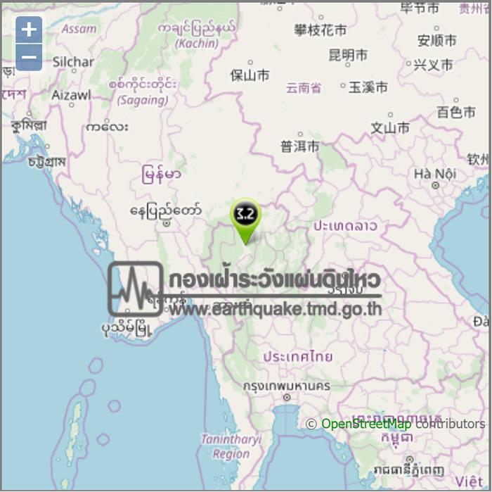 タイ北部・チェンマイでM3.2の地震発生-2019月1月22日23時