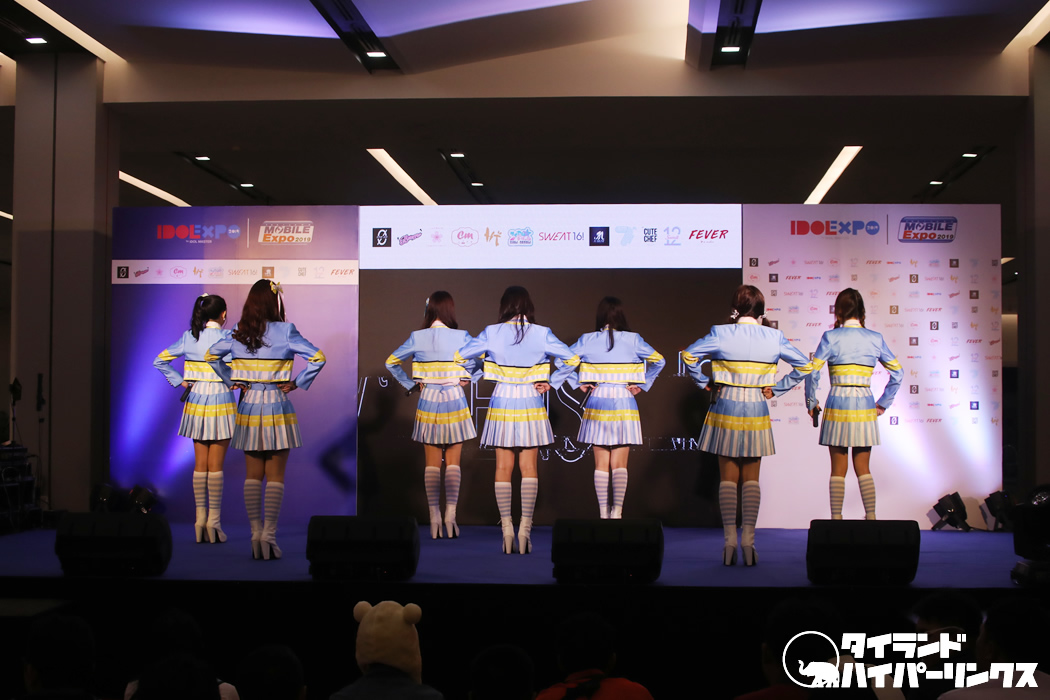 タイのアイドル7th Sense、「IDOL EXPO 2019」初日のミニコンサート