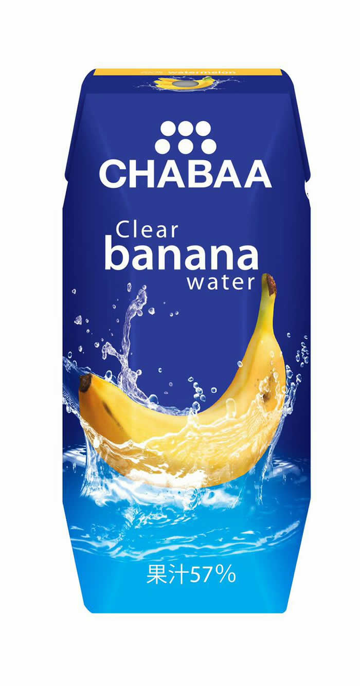「CHABAA クリアバナナウォーター」タイ発の透明バナナジュースが日本上陸