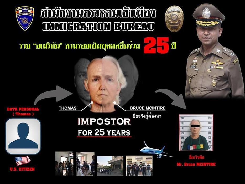 別人になりすまして25年、麻薬犯罪で指名手配の米人男をチェンマイで逮捕