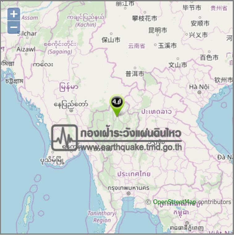 タイ北部ランパーンで3月14日は20回の地震観測、有感地震はM4.1など3回