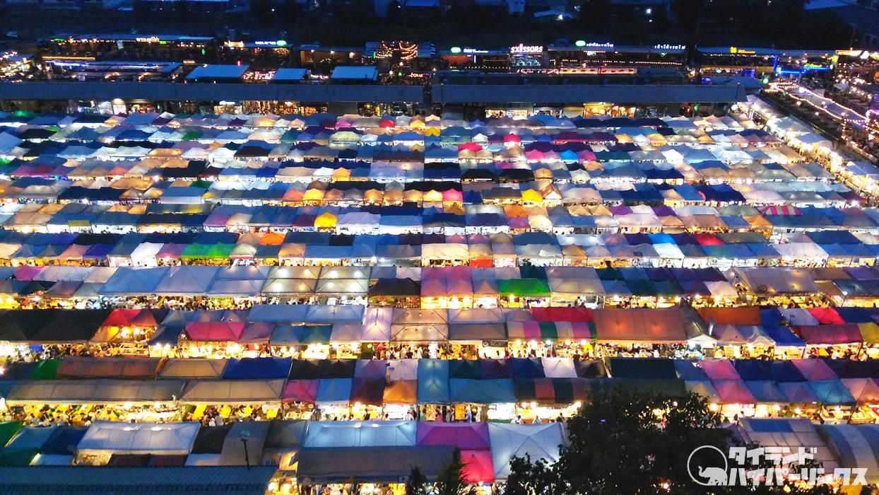 バンコクのナイトマーケットの夜景はどこから撮影するのですか?