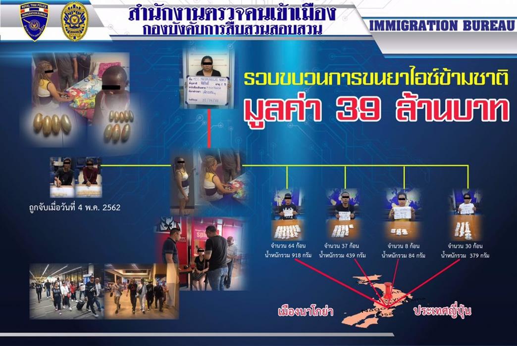 タイ人男女4人が覚醒剤丸呑みで名古屋へ密輸未遂、バンコクの空港で逮捕