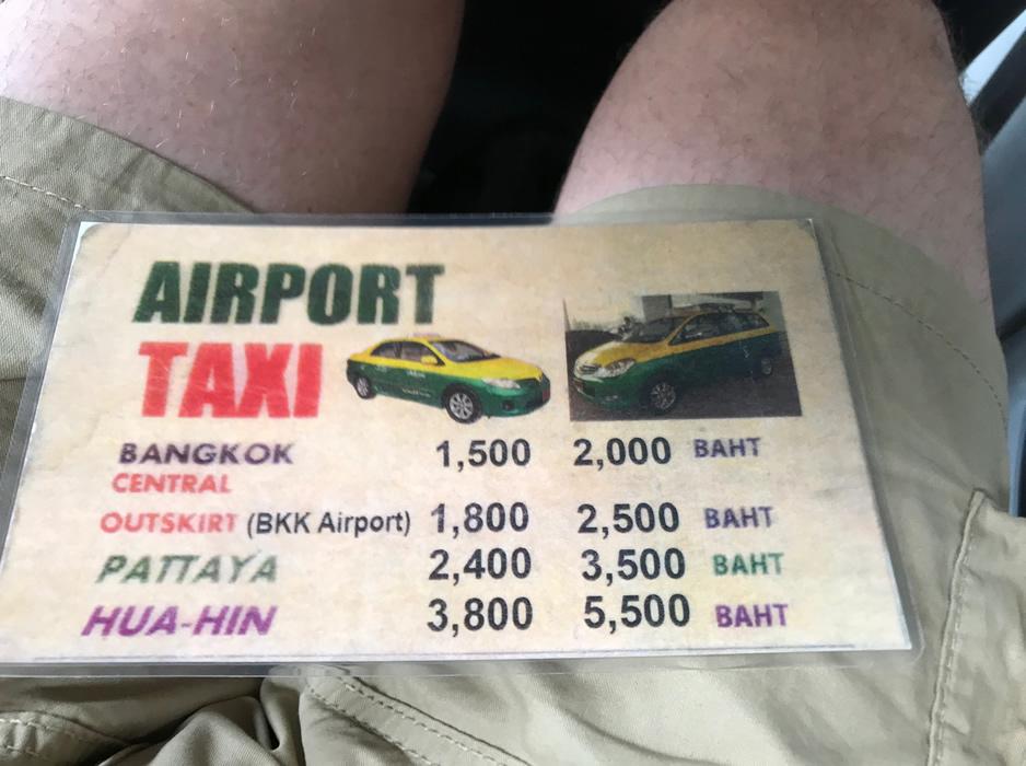 """ボッタクリ""""空港タクシー""""を逮捕、ドンムアンから都心まで1500バーツ"""
