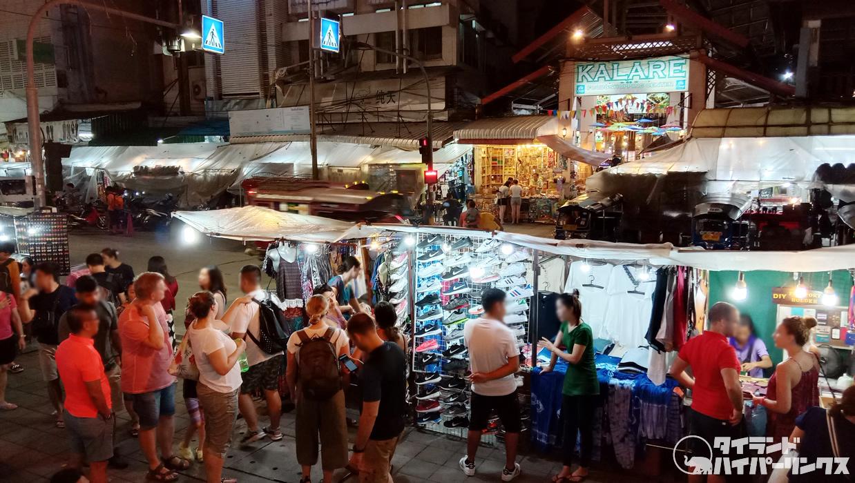 チェンマイ・チャンクラン通りのナイトバザール
