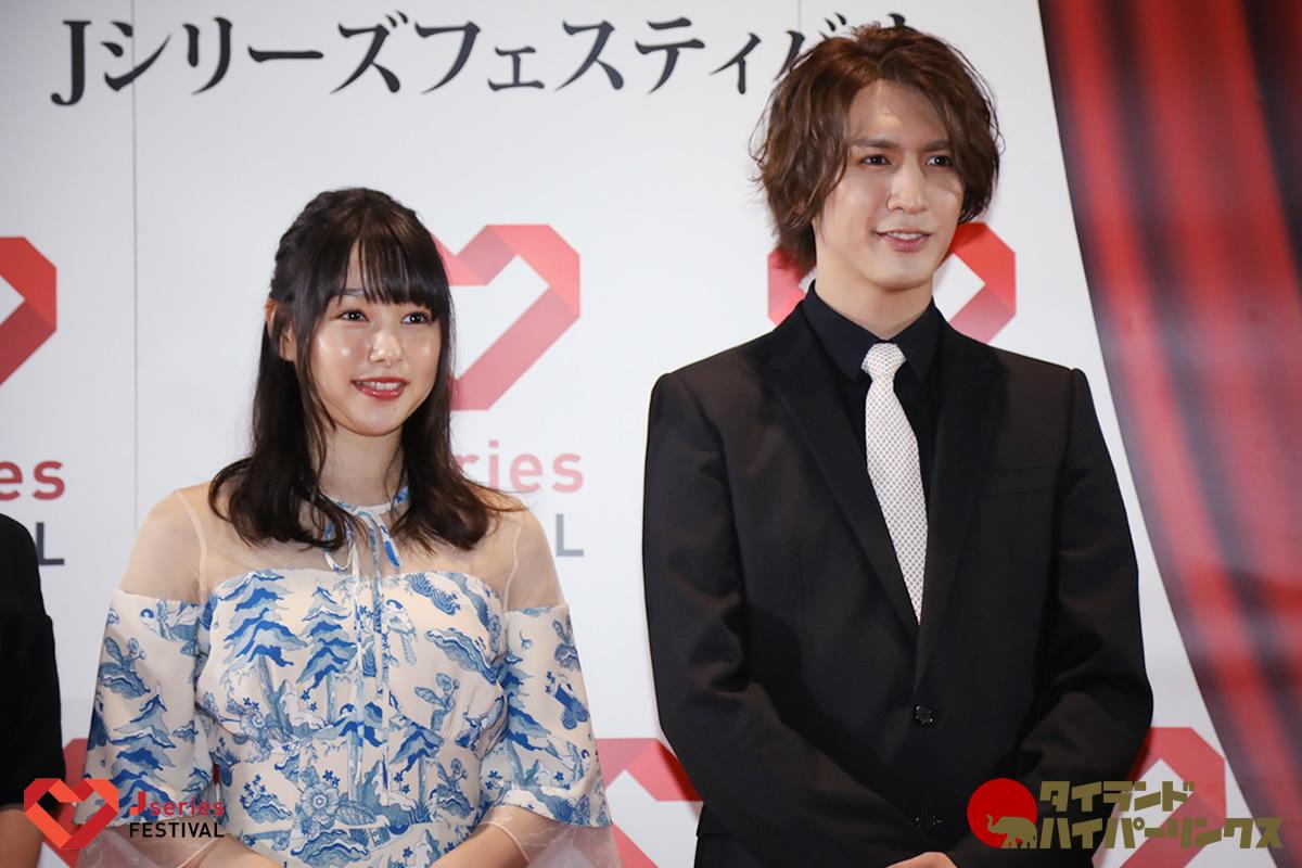 藤井流星(ジャニーズWEST)と桜井日奈子、タイ・バンコクで日本のドラマをPR