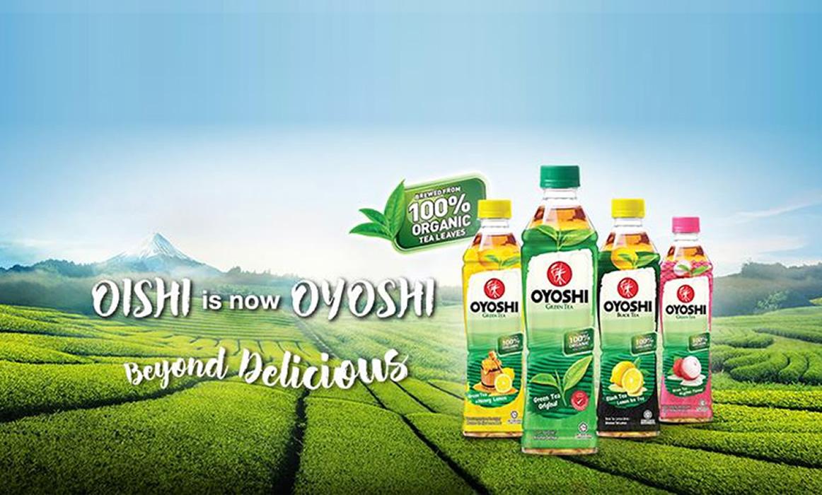 タイの緑茶飲料「OISHI」はマレーシアでは「OYOSHI」だった!