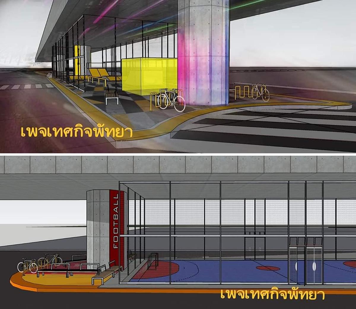 パタヤ高架下にスポーツパーク(仮名)建設決定、バスケコートやスケボー広場